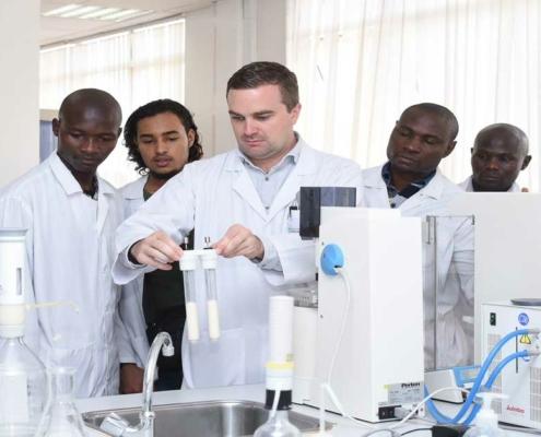 Stefan Lutz at African Milling School, Nairobi, Kenya