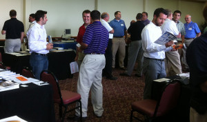 Members network at district table top expo