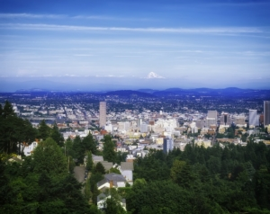 Portland Oregon skyline